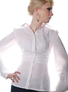 hvit skjorte modell