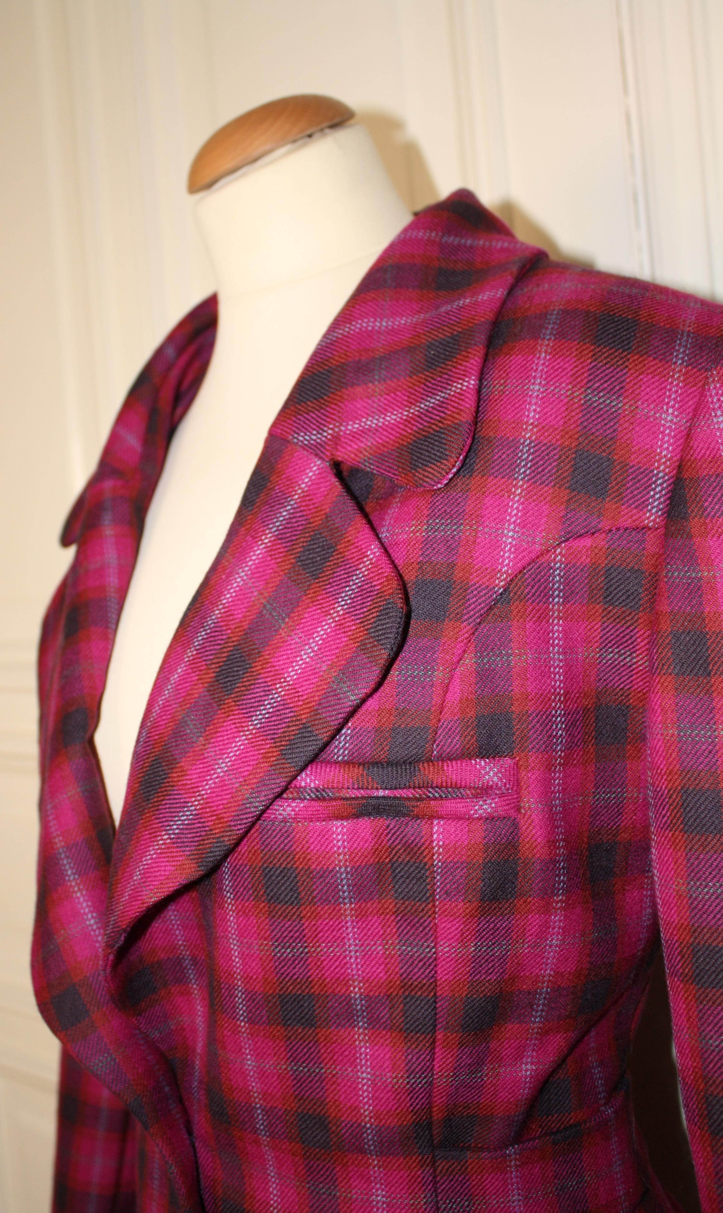 fashion design pink tweed