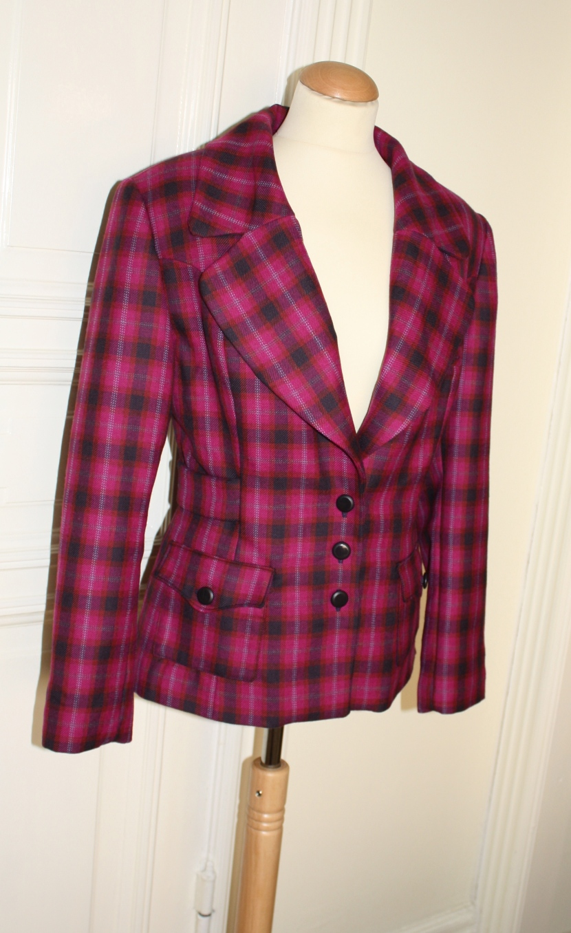 pink blazer tweed