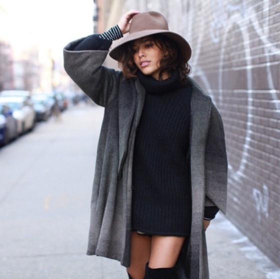3f7mc9-l-610x610-coat-navy+knit-floppy+hat-hat-grey+coat-wool+hat-navy-winter+outfits-streetstyle-girly-dress-sweater