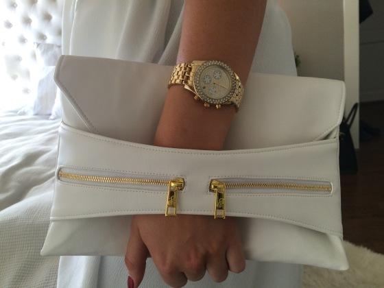 hvit clutch